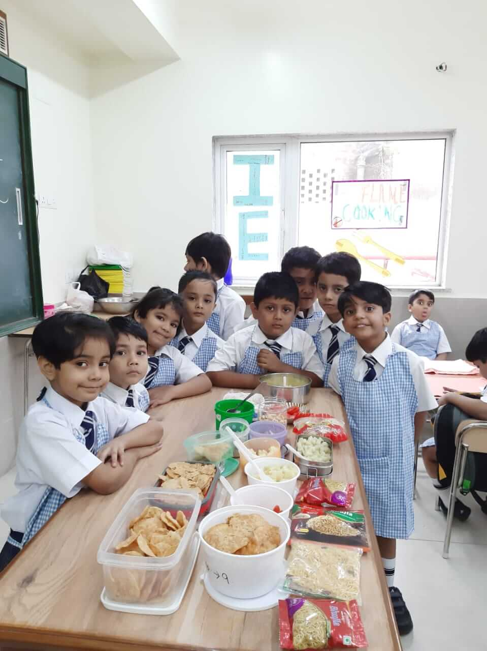 Non Flame Cooking – Pre Primary Section